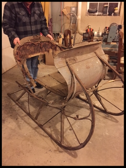 Starting the restoration on our Albany Cutter Sleigh. Plans and Parts will soon be available, Fall of 2017
