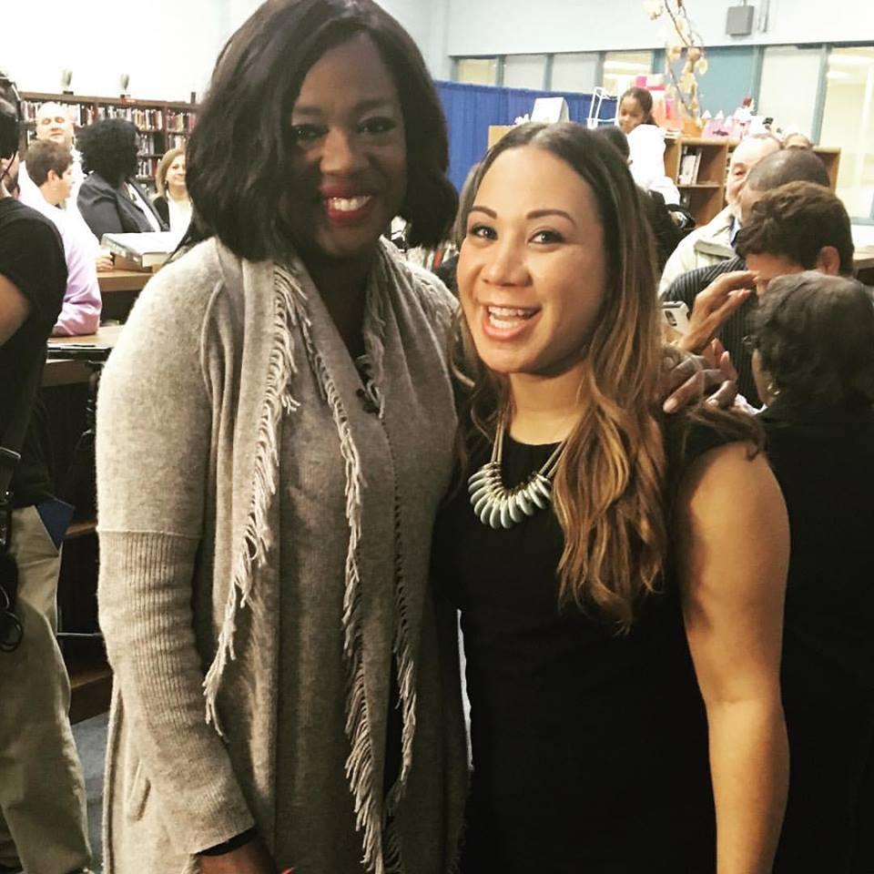 Viola Davis (Actress)& Carlene Fonseca, (councilwoman) - Central Falls, Rhode Island Natives