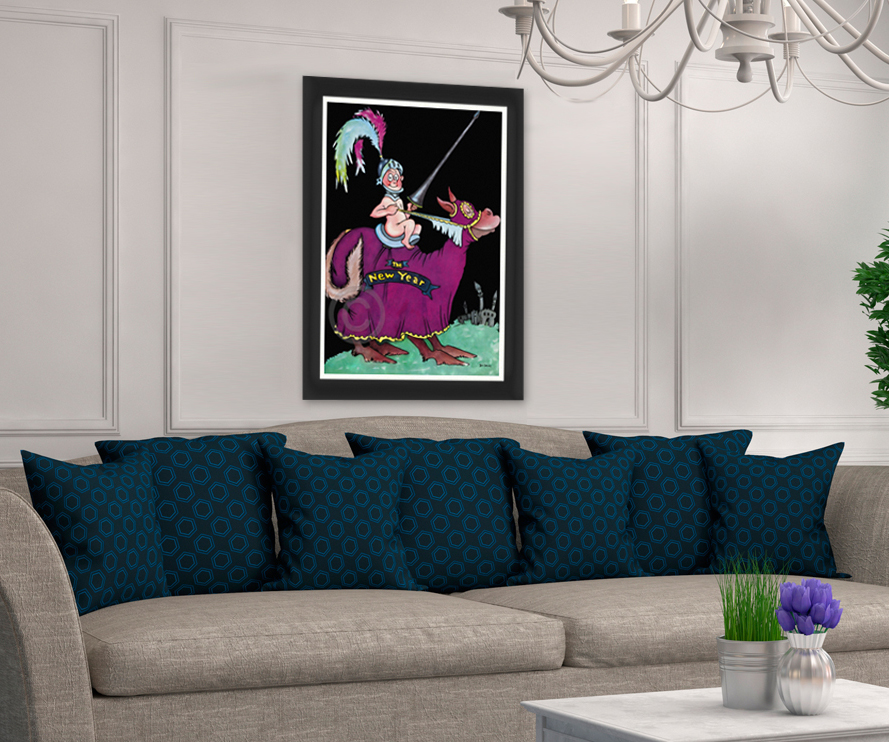 Above image includes a framed rendering for illustration purposes only. Please contact your art consultant for specific framing options.