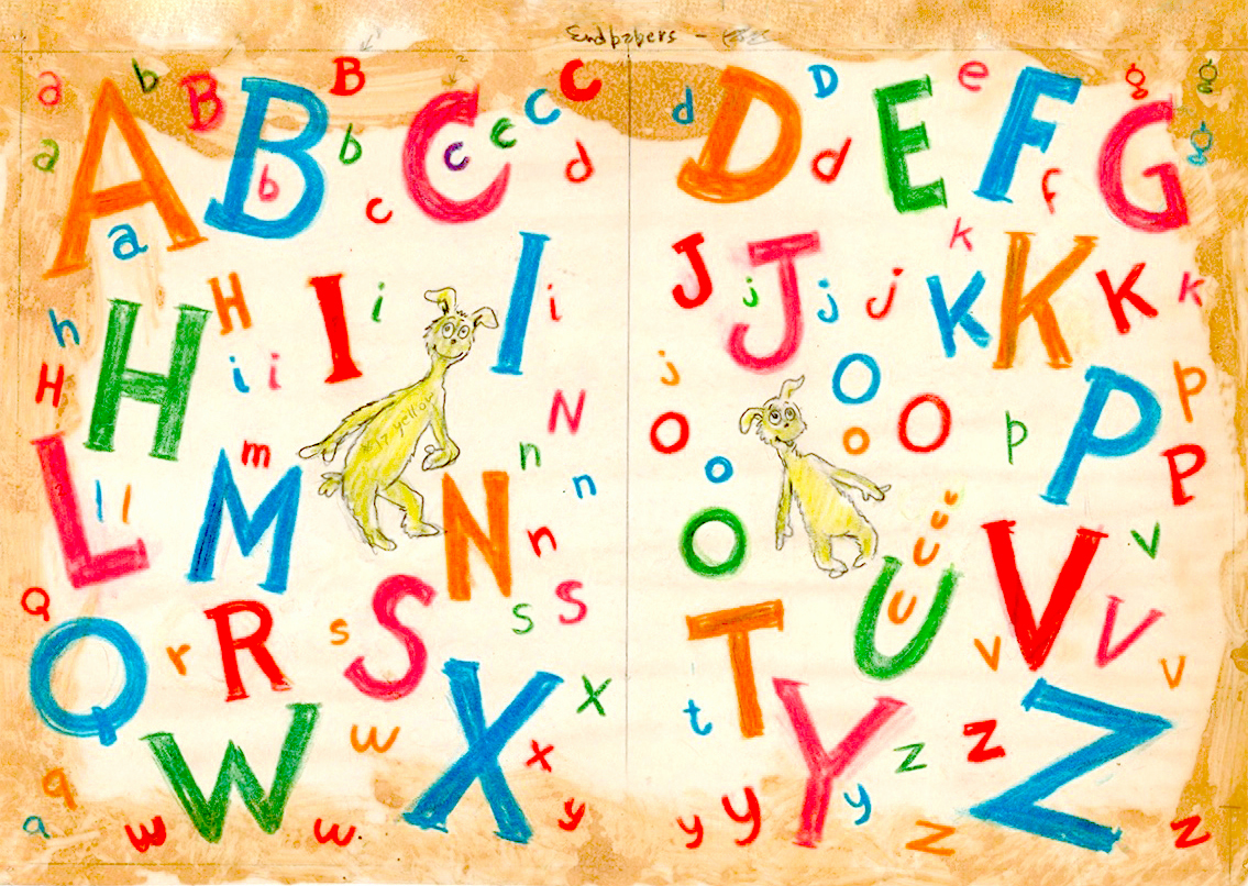 """Dr. Seuss's ABC   Digital Pigment Print on Archival Paper, Image and Paper Dimensions: 23"""" x 32""""  Limited Edition of 850 Arabic Numbers,99 Patrons' Collection,155 Collaborators' Proofs,5 Hors d'Commerce, and 2 Printer's Proofs"""