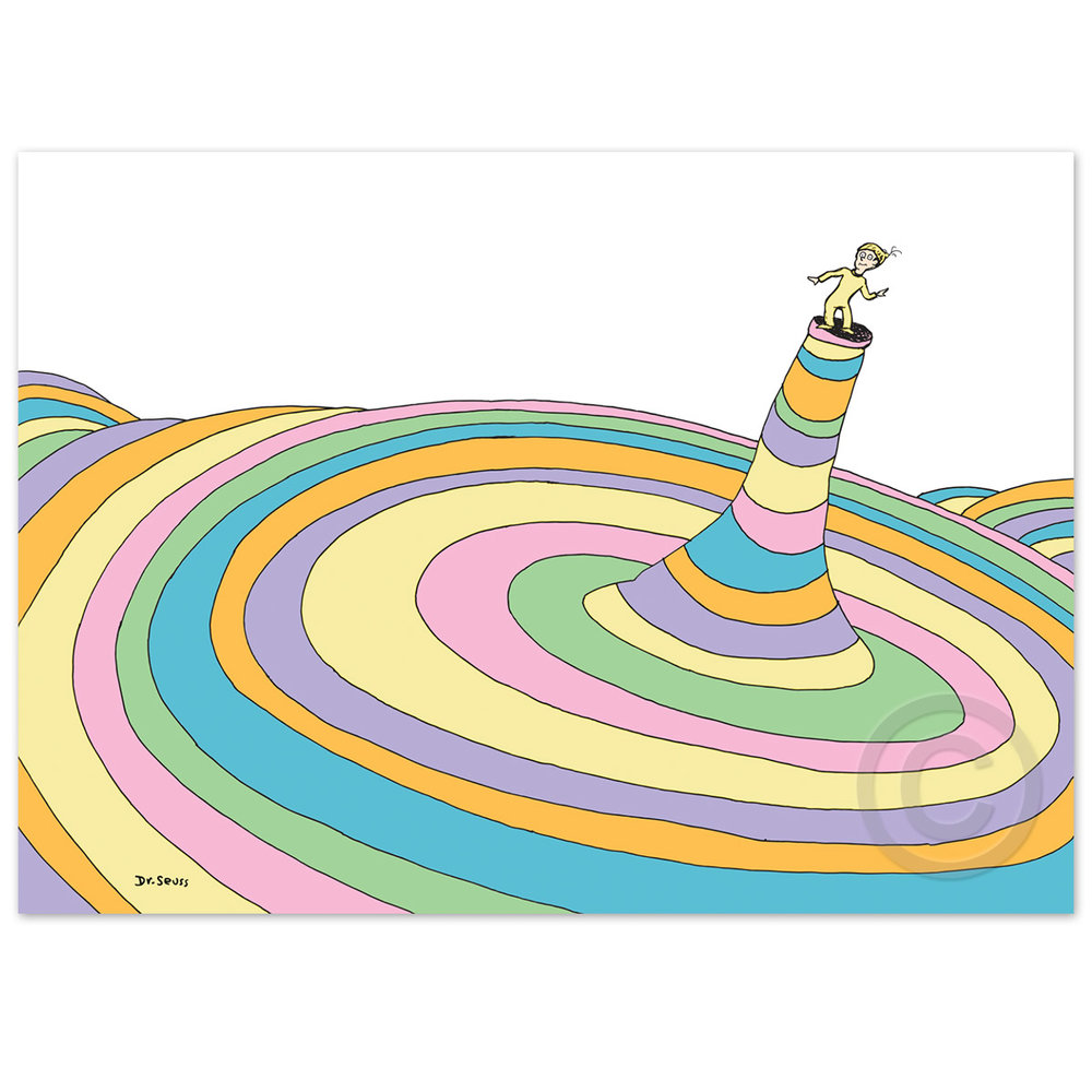 Oh the Places You'll Go! Cover Illustration Deluxe