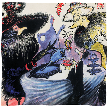 la jolla birdwomen - Over time The Cat in the Hat became more than a recurring character for Ted; it also morphed into his alter ego, surfacing repeatedly in his surrealist thematic cat paintings.READ MORE