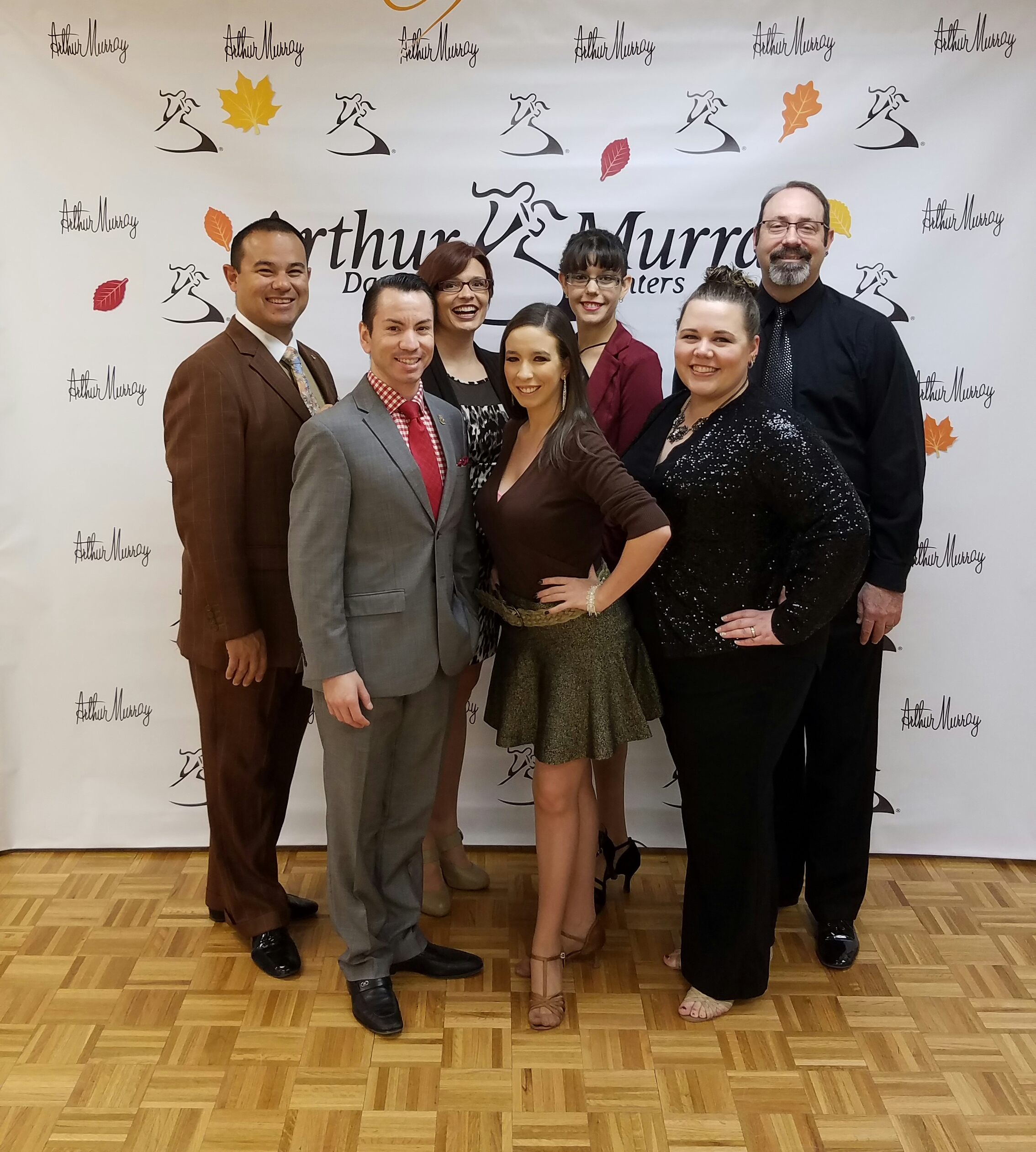 November 6, 2016  - our Arthur Murray Reno staff at Medal Ball with visiting Adjudicator, CJ Gomez!