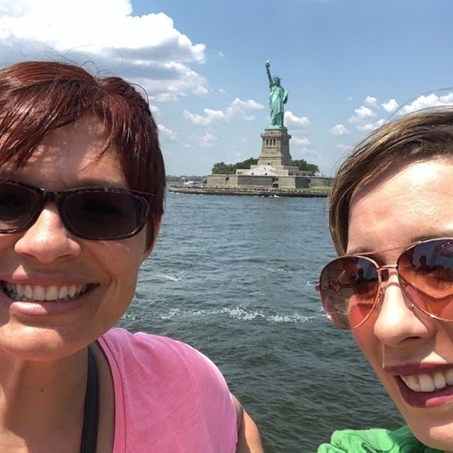 Vanessa and Corina are in New York taking in the sights before Executive Training starts tomorrow!  Check it out! The Statue of Liberty and the @arthurmurraynyc studio!