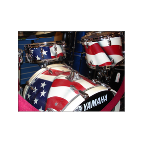 Praire Prince-Patriotic Drums - GodSmack - Detail  Kymara Artistic Management No use authorized without permission.   Contact  gallery for availability.