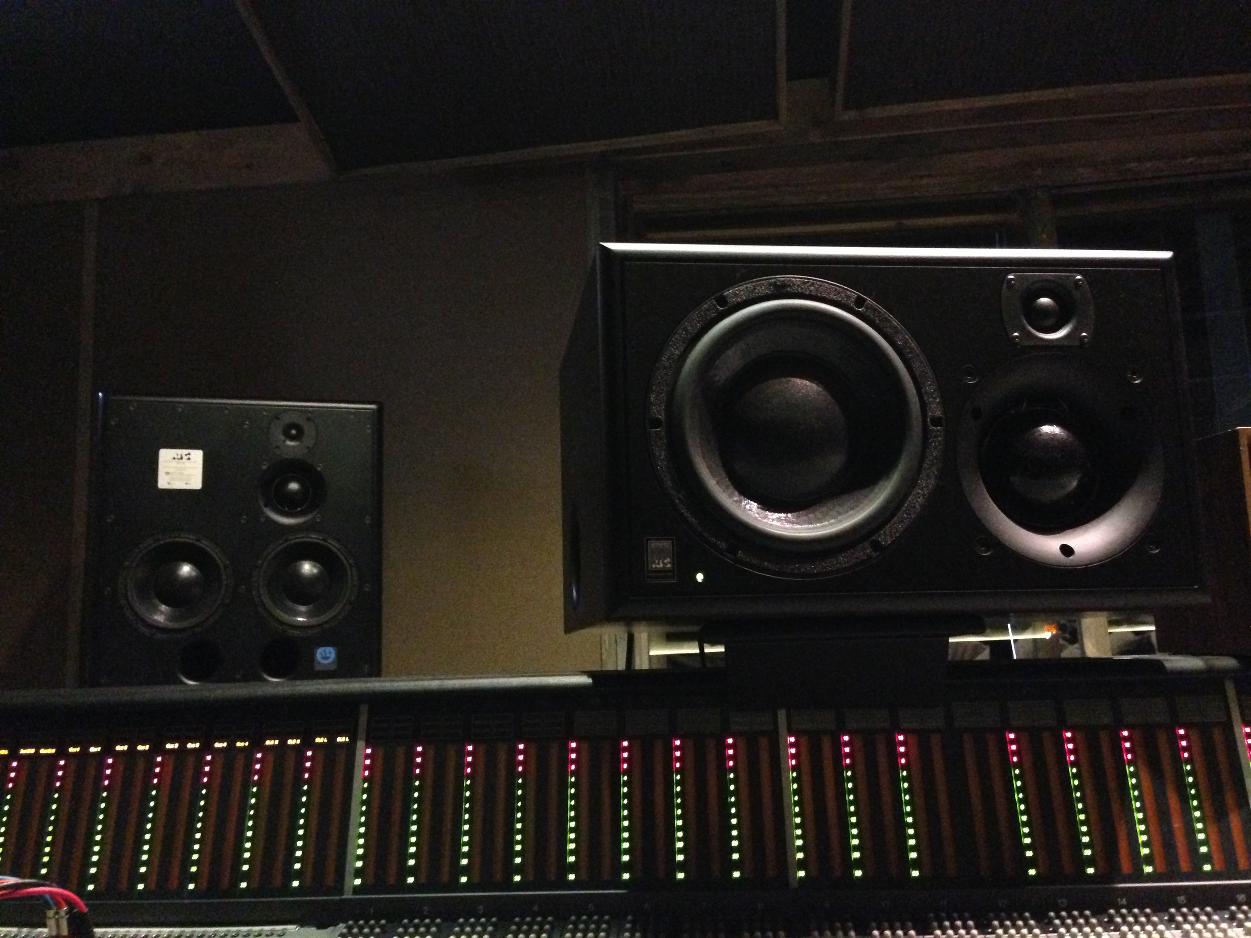 "Joel's ATC monitors in the ""A"" Room at Studio G."