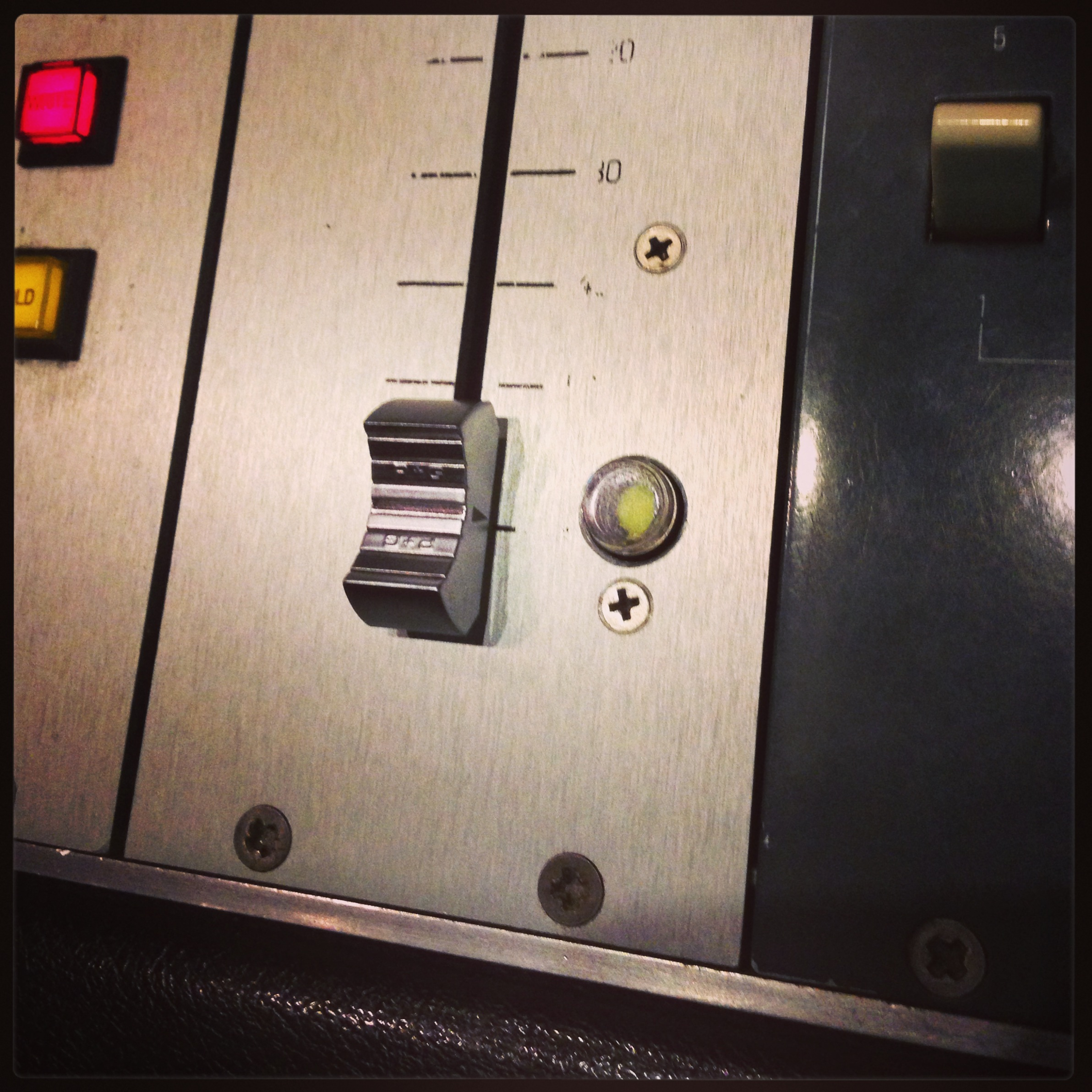 Custom work on the Neve master fader.