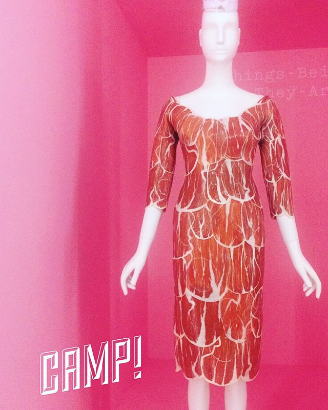 #camp In the fashion sense. Was just at the @metmuseum CAMP show. Not my favorite show they have done (#alexandermcqueen forever) but the #couture cuts, the lines, the faux -ness of it, I do appreciate. Perfect execution of weirdness. #fashionvoyage #campitup #museumday #artistlife #lookingatart #dresses