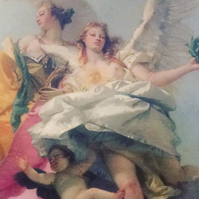 What a look! She's got #putti around her skirt, and is The Triumph of Virtue and Nobility Over Ignorance. I want her with me in a street fight. . . . @nortonsimon #art #womeninpower #ladiesgoneglobal #attitude #artwithmom