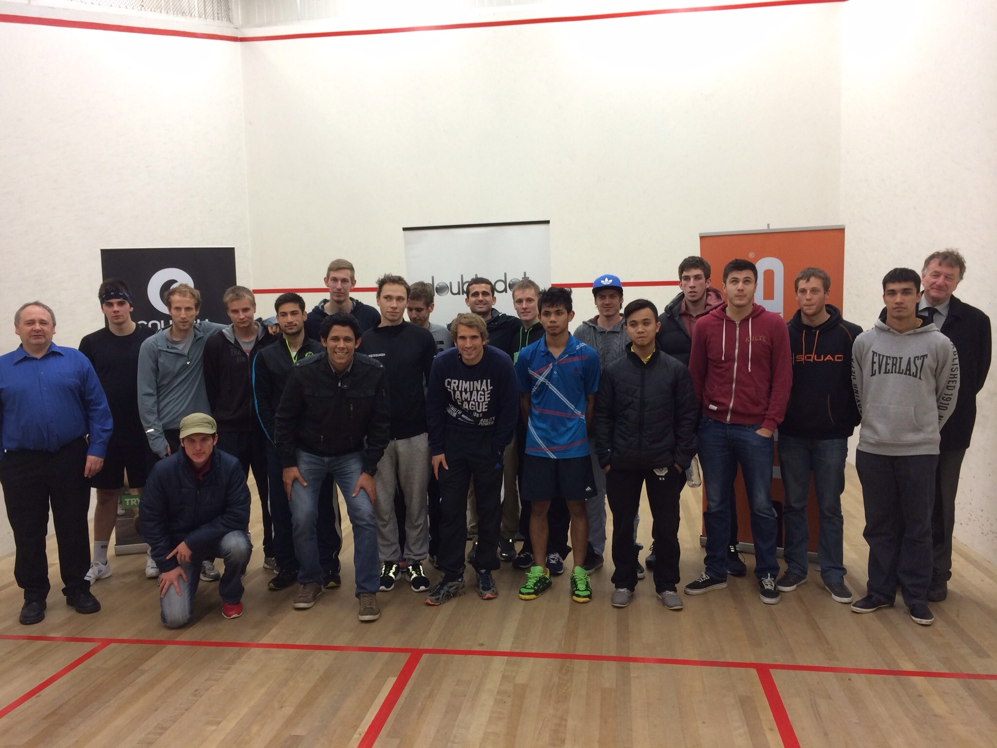 The players in the 2014 DoubleDot Media Christchurch Open. Players came from New Zealand, USA, Czech Republic, Finland, South Africa, England, Brazil, France, Malaysia, Austria, and Australia