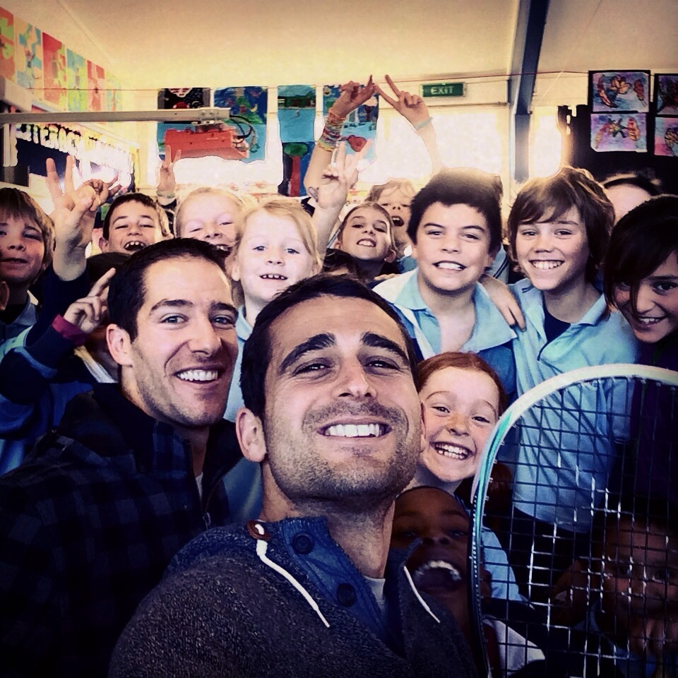 My frien and NZ's own Martin Knight (world #44) and I were surprise visitors at Show and Tell at the Salford School in Invercargill, New Zealand last week