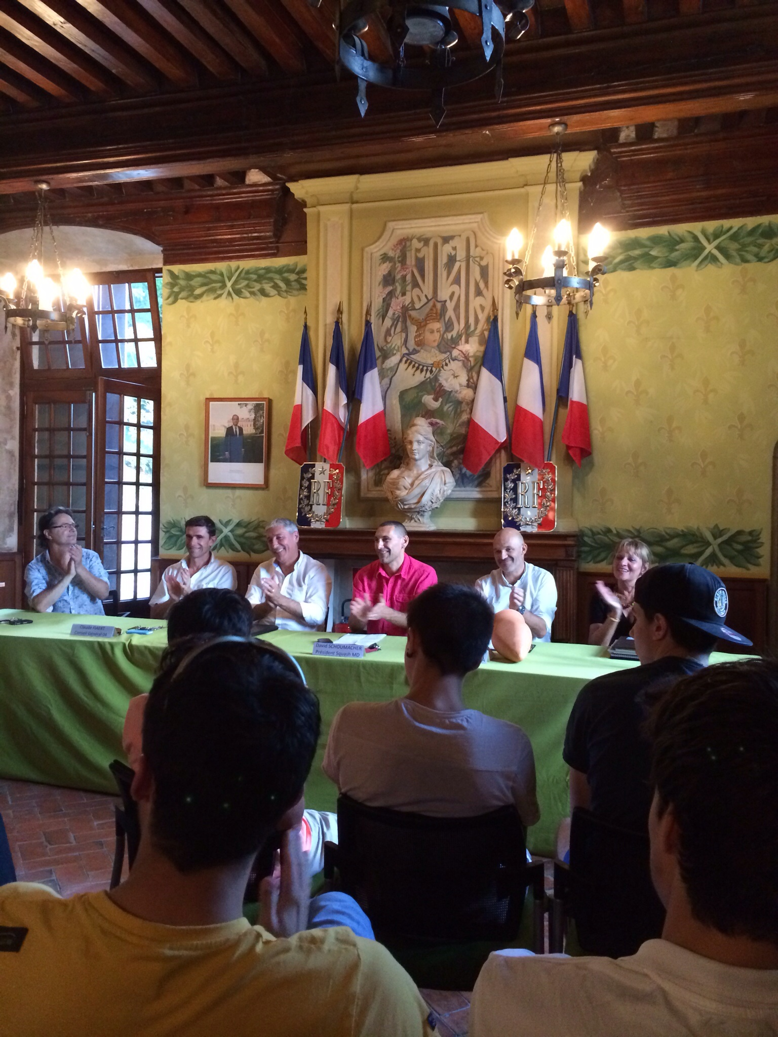 Opening tournament press conference hosted by the mayor of the village, held in a 17th century castle. ESPN must have gotten lost, didn't see them there