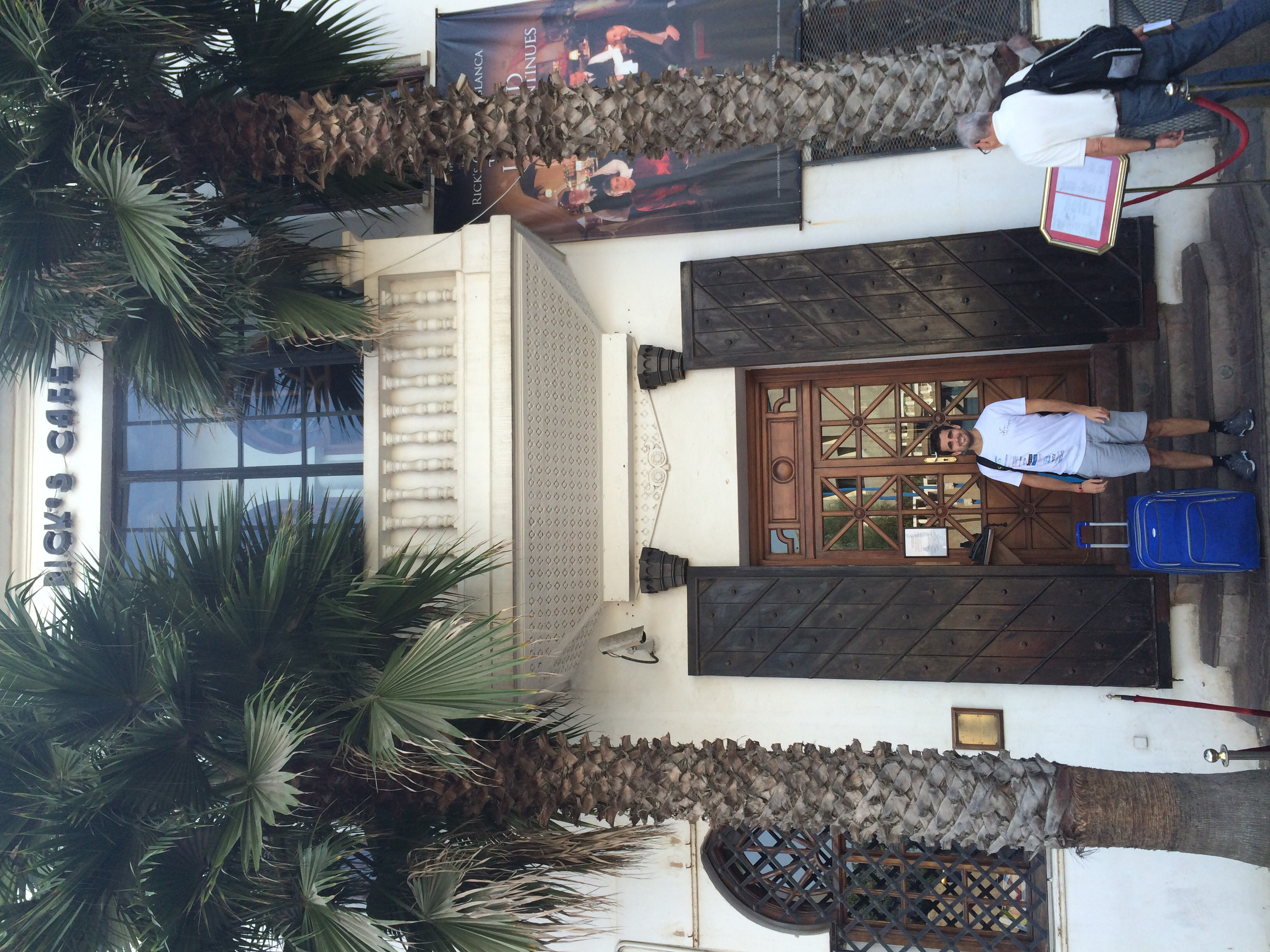 While looking for Humphrey Bogart at Rick's Cafe in Casablanca. We'll always have Paris...