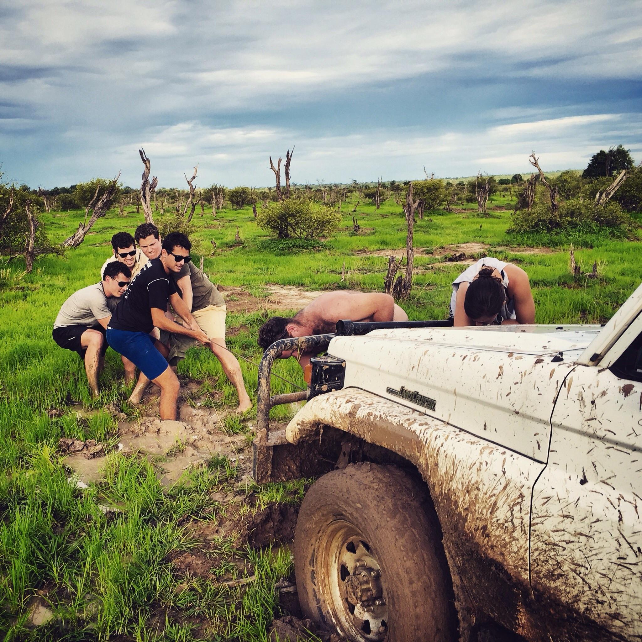 Boy band tour bus gets stuck in mud, bye bye bye tour bus