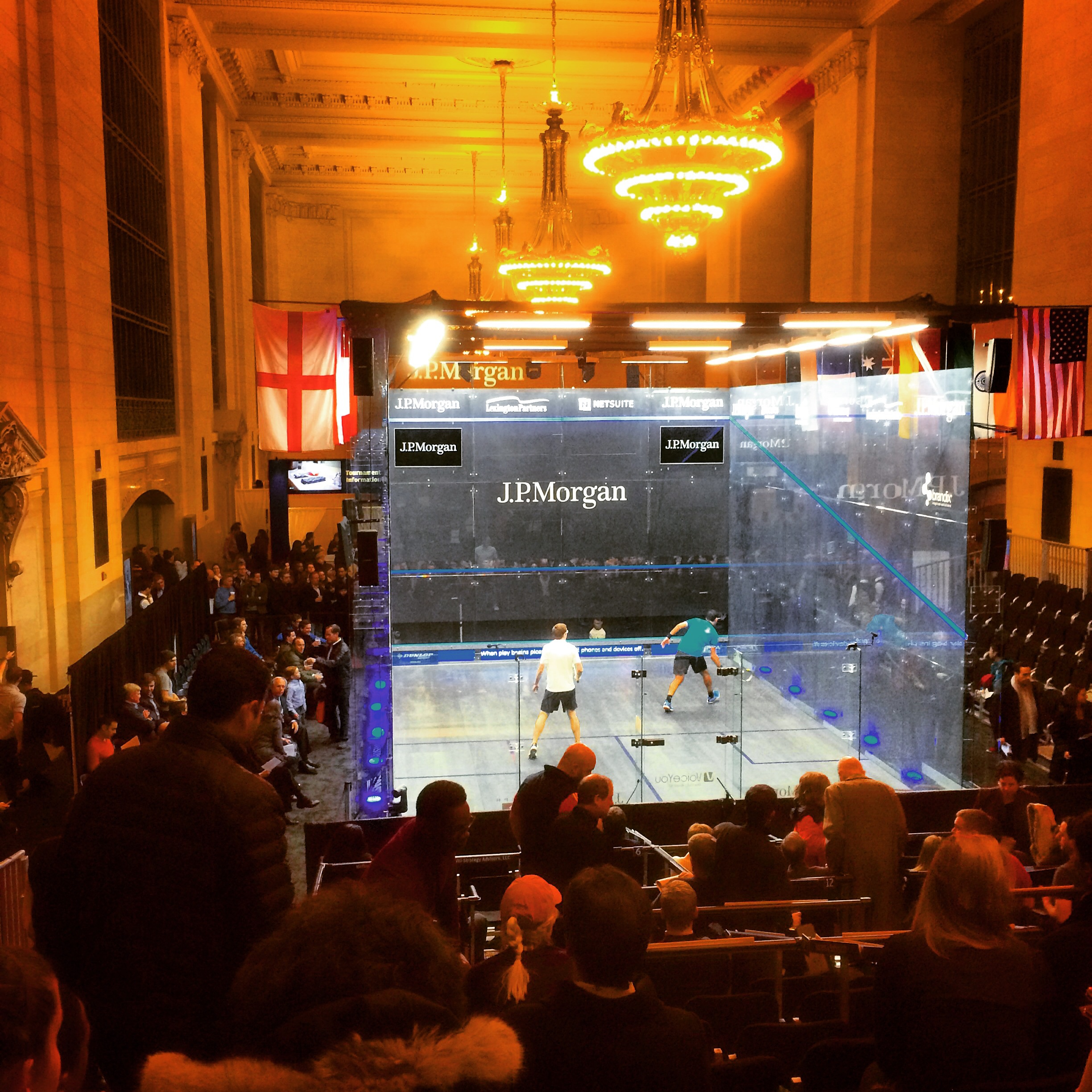 The coolest court around- in the middle of Grand Central Station NYC. Site of the main draw for the Tournament of Champions