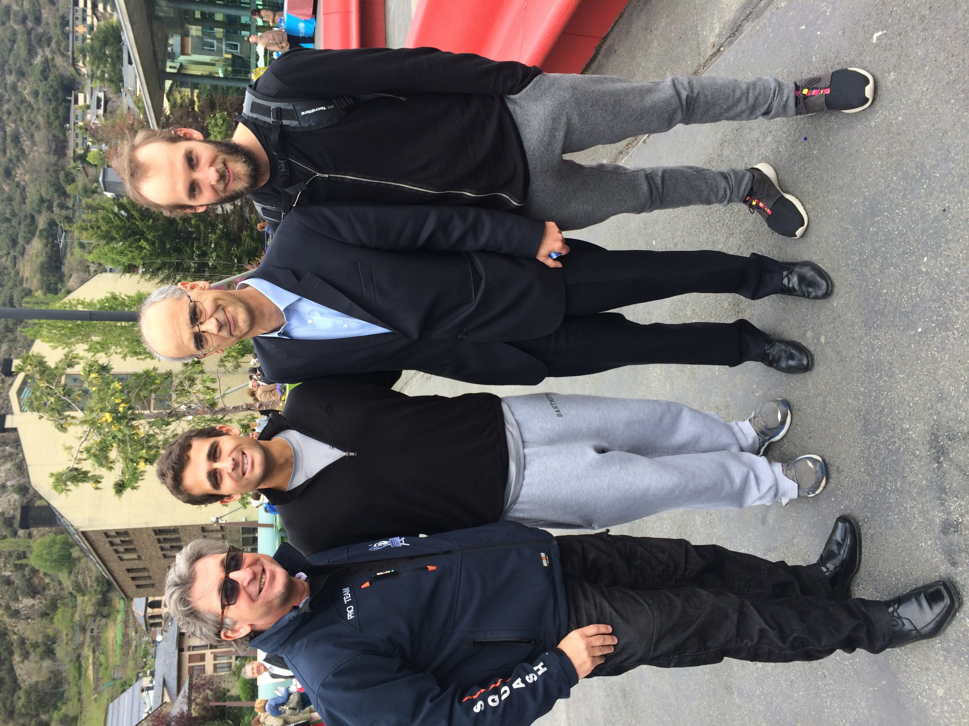 The President of Andorra (suit) with some random squash enthusiasts