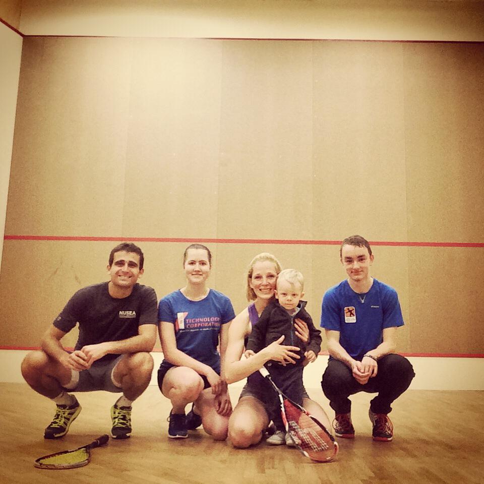 Junior clinic with Aliis and Estonia's next generation of squash players
