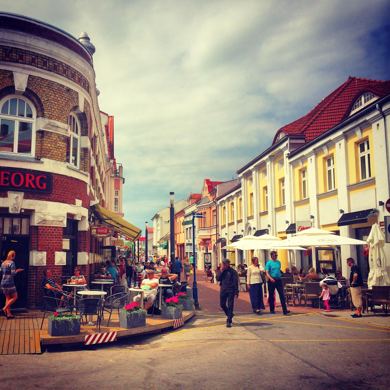 Downtown Pärnu, Estonia