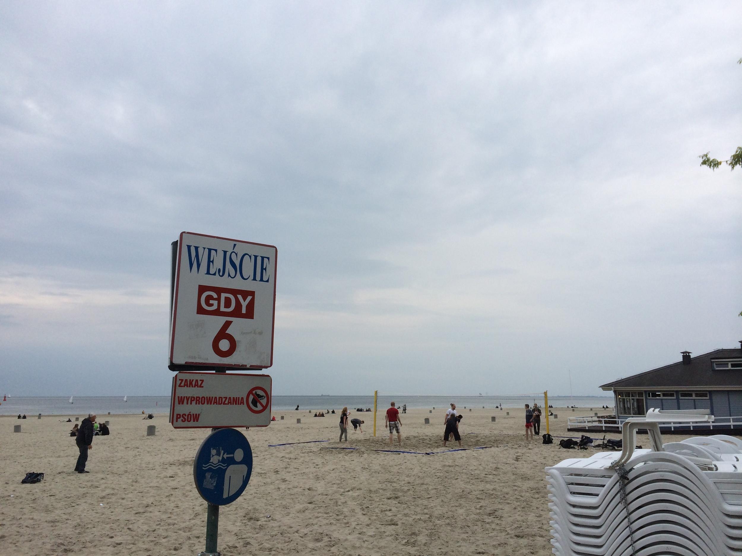 Beach volleyball along the Baltic Sea in Gdynia, Poland