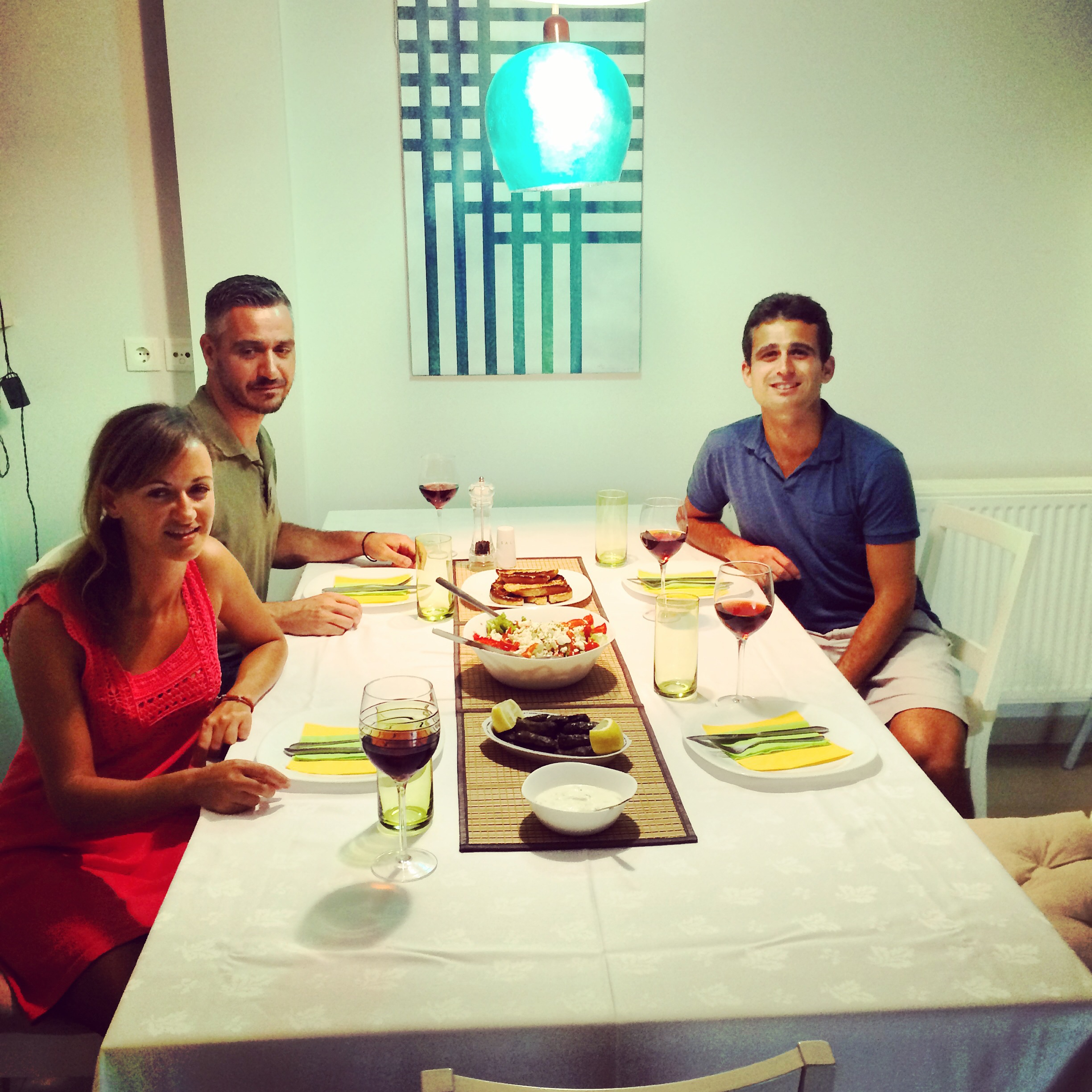 Getting a seat at the dinner party with Eftihia and Vasilis
