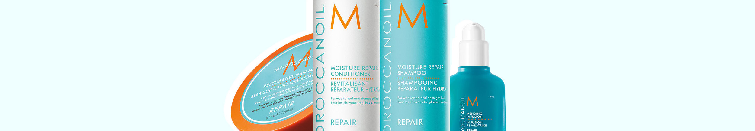 Repair collection - Restorative formulas infused with argan oil and nourishing ingredients for healthy and strong hair.