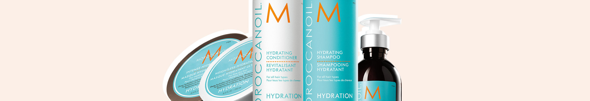 HYDRATION COLLECTION - For normal to dry hair, advanced replenishing nutrients deeply hydrate hair while maintaining its natural moisture balance.