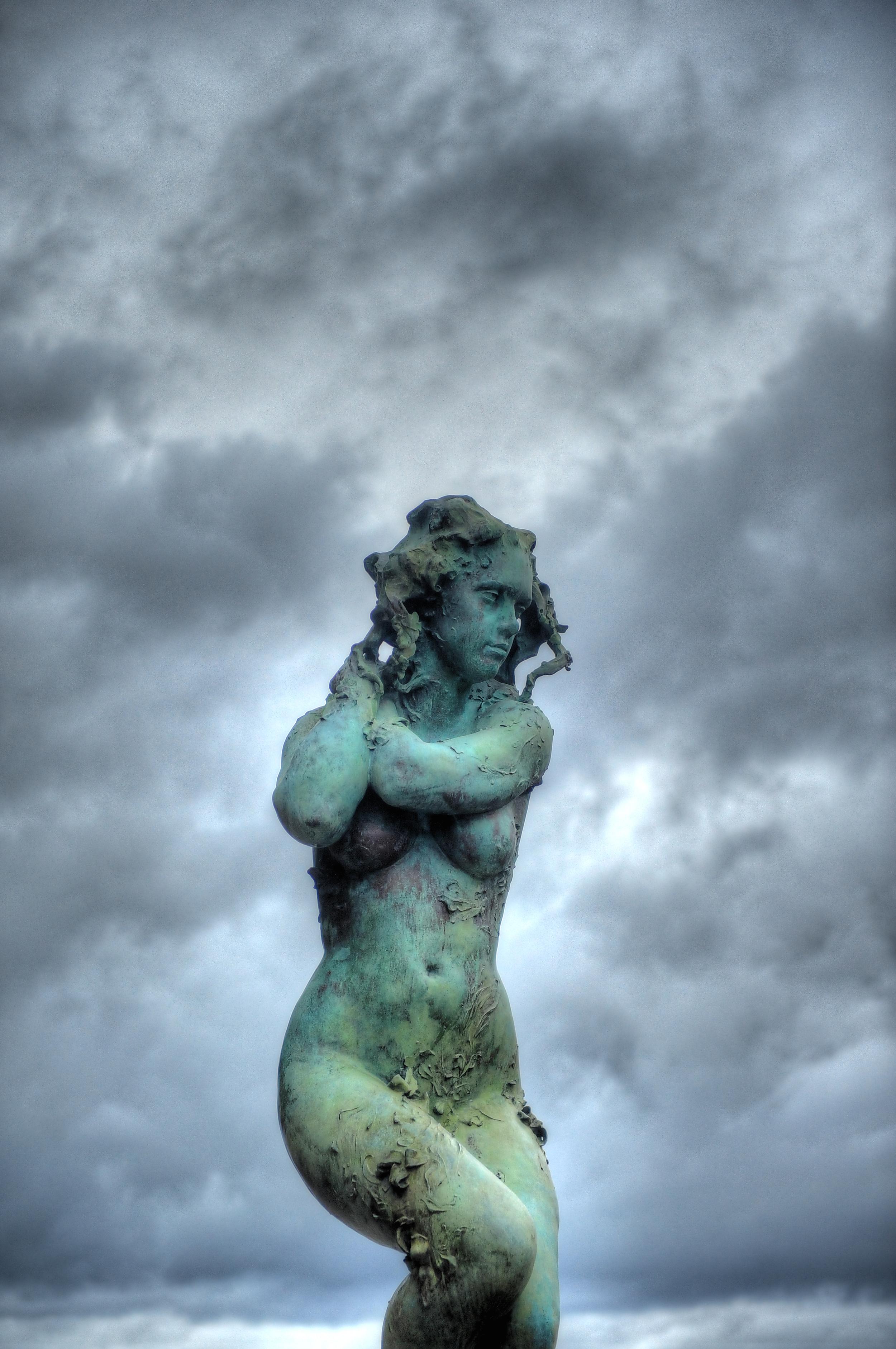 """Summer"" a statue on the Market Street Bridge in Chattanooga, TN"