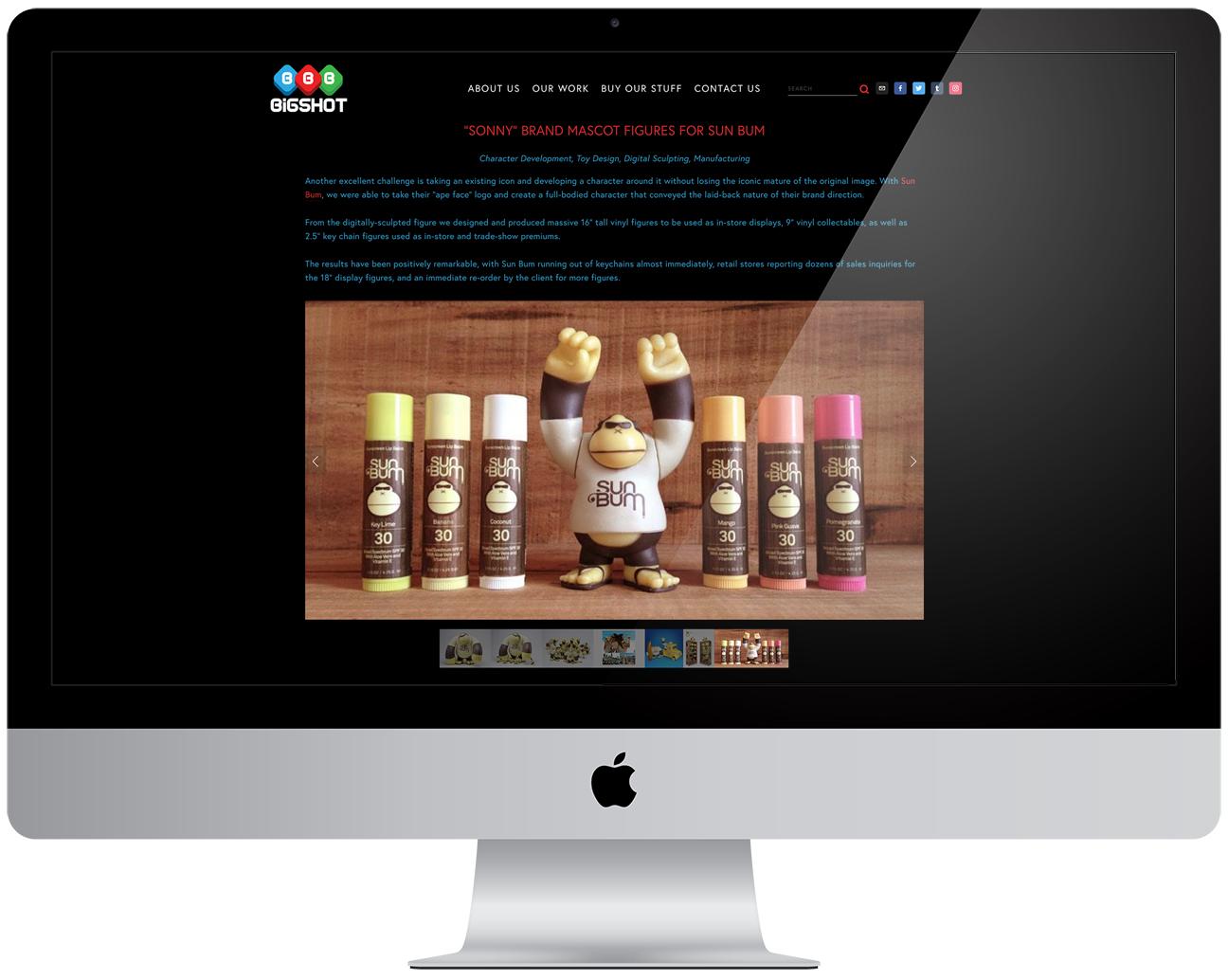 New portfolio site for  Bigshot Toyworks   (Squarespace)