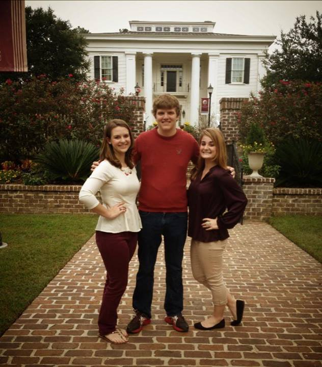 Sean, Michelle, and Breanne outside the FSU President's House.