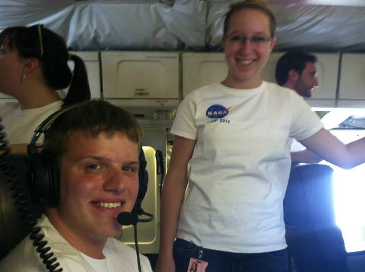 Sean working on the NASA DC-8