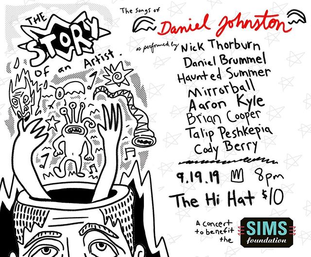 Performing two songs of #danieljohnston tomorrow night at the @thehihatla with some great company! Come on out and let's remember a real beautiful soul!