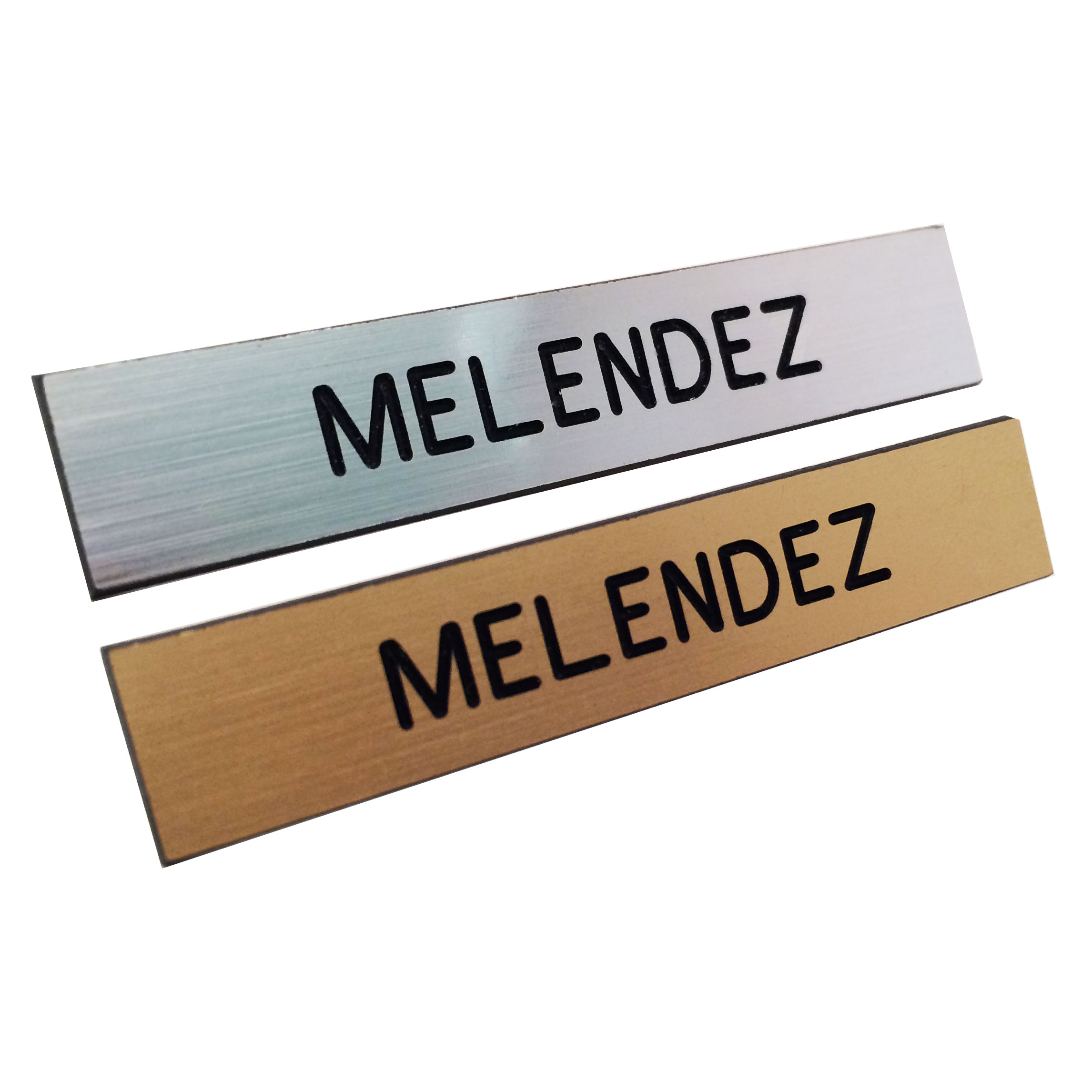 One Line Engraved on Gold or Silver Plastic