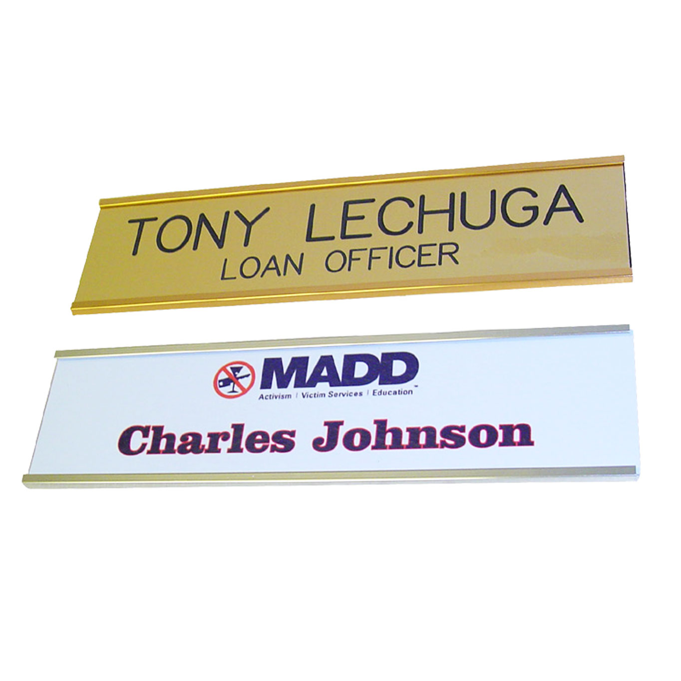 Engraved and Full Color Wall Plates with Holder (Gold or Silver)
