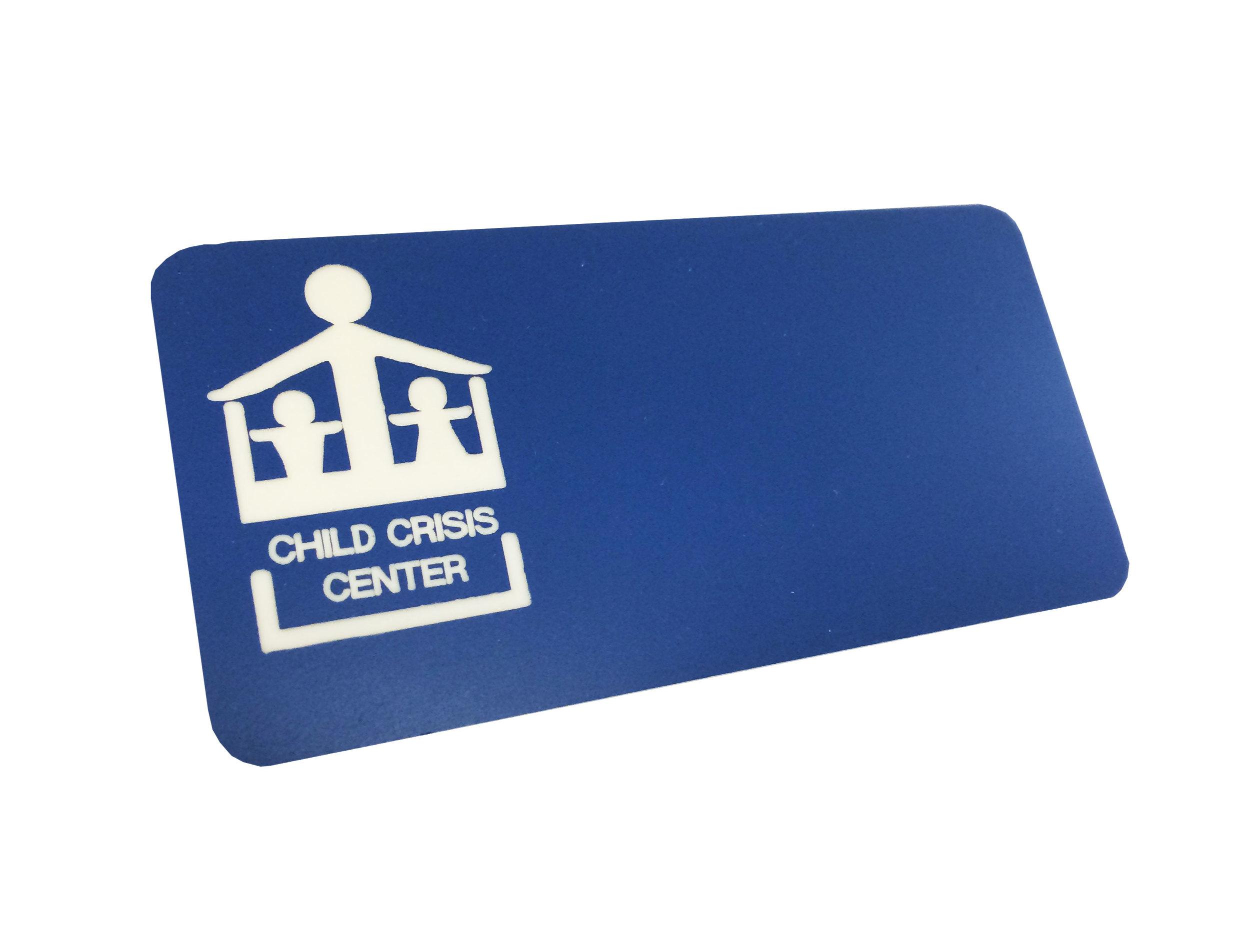 Engraved on Blue Plastic