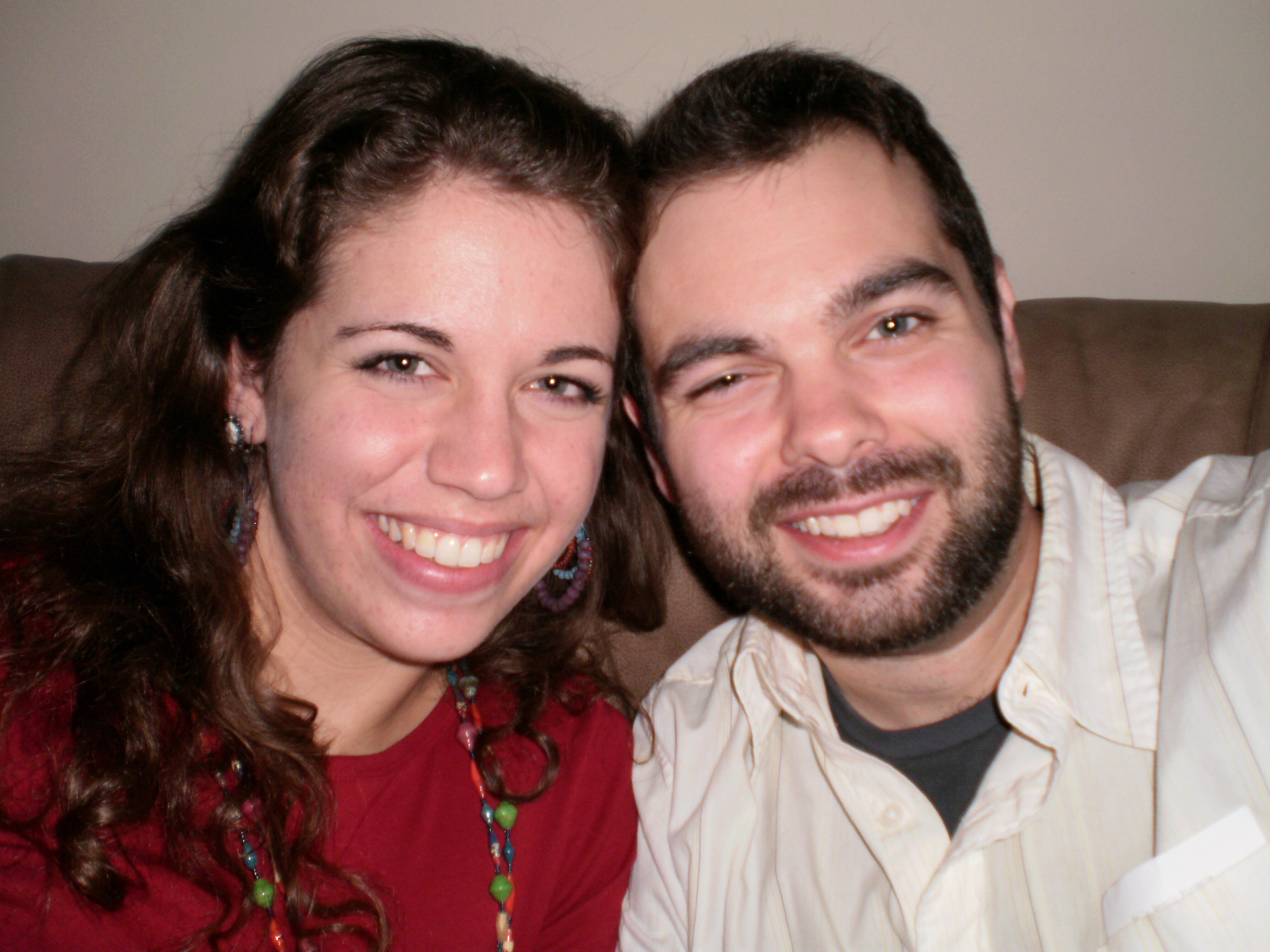 Our first picture as a couple! We are such babies!!
