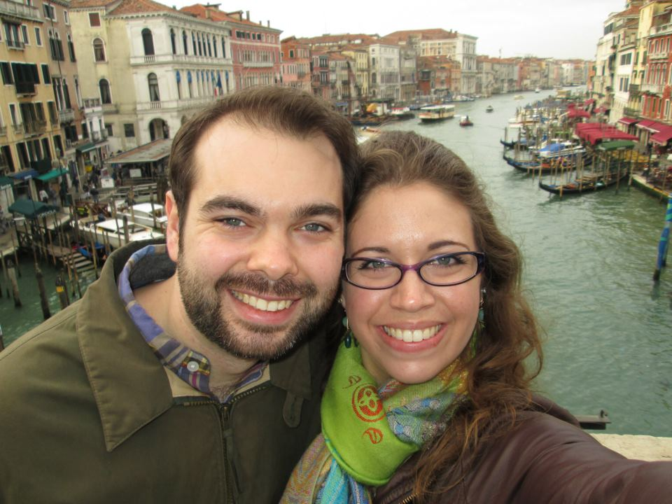 On our honeymoon in Venice, Italy