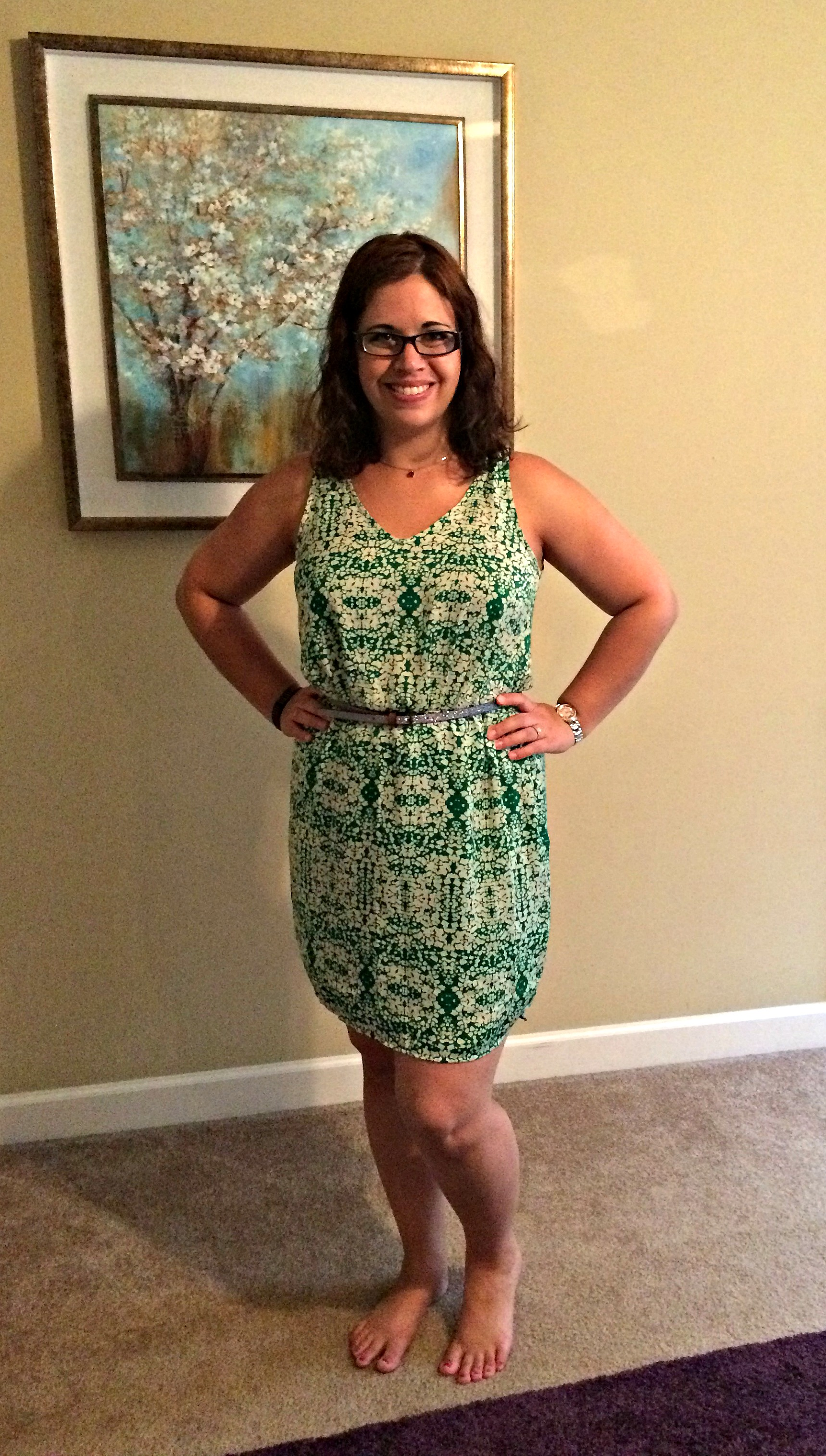 I loved this dress!! Such a fun color and print! Also a keeper!