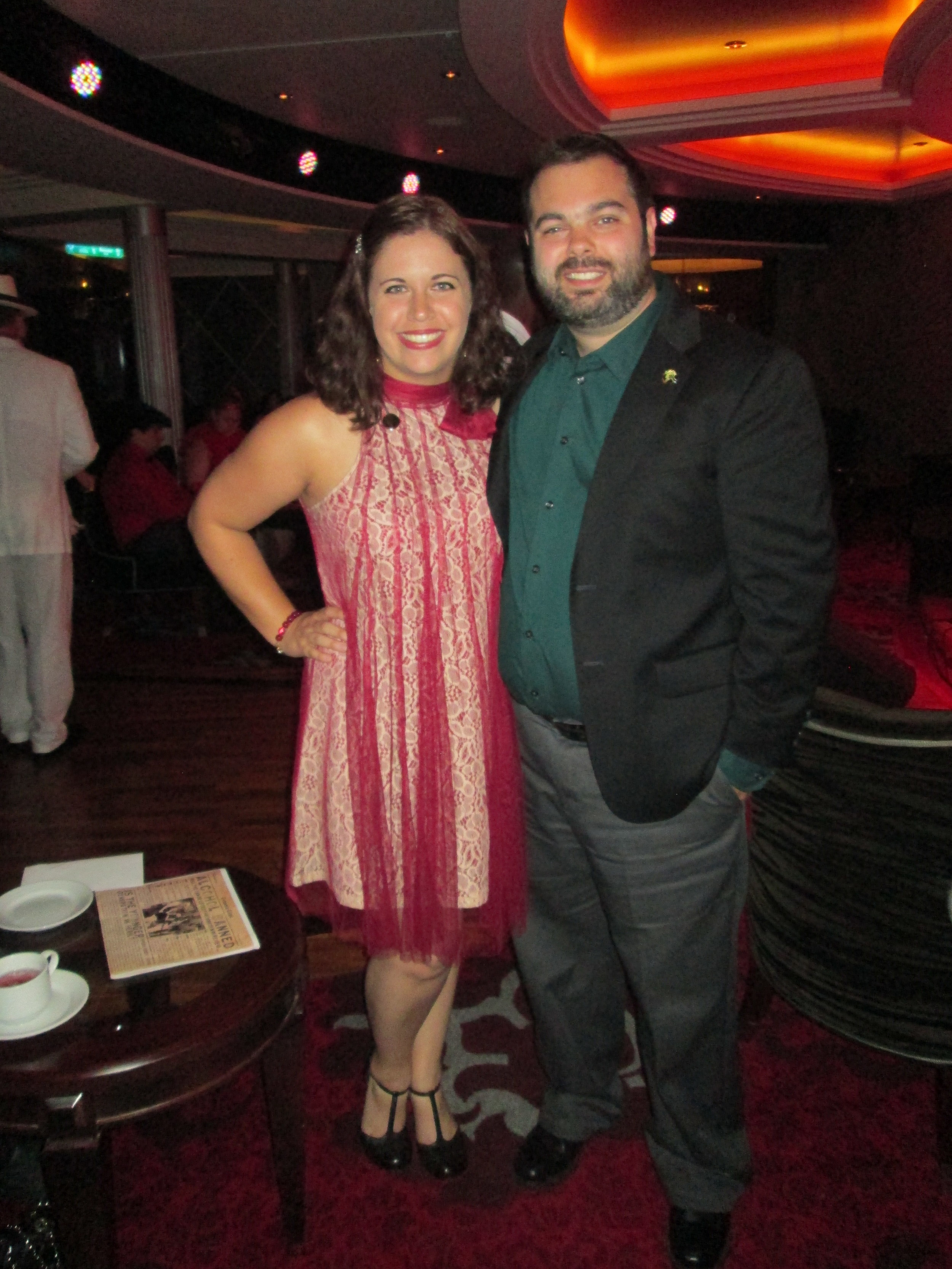 My husband, Nathan, and I at the Prohibition Event. We got decked out in 20's garb and had a blast!