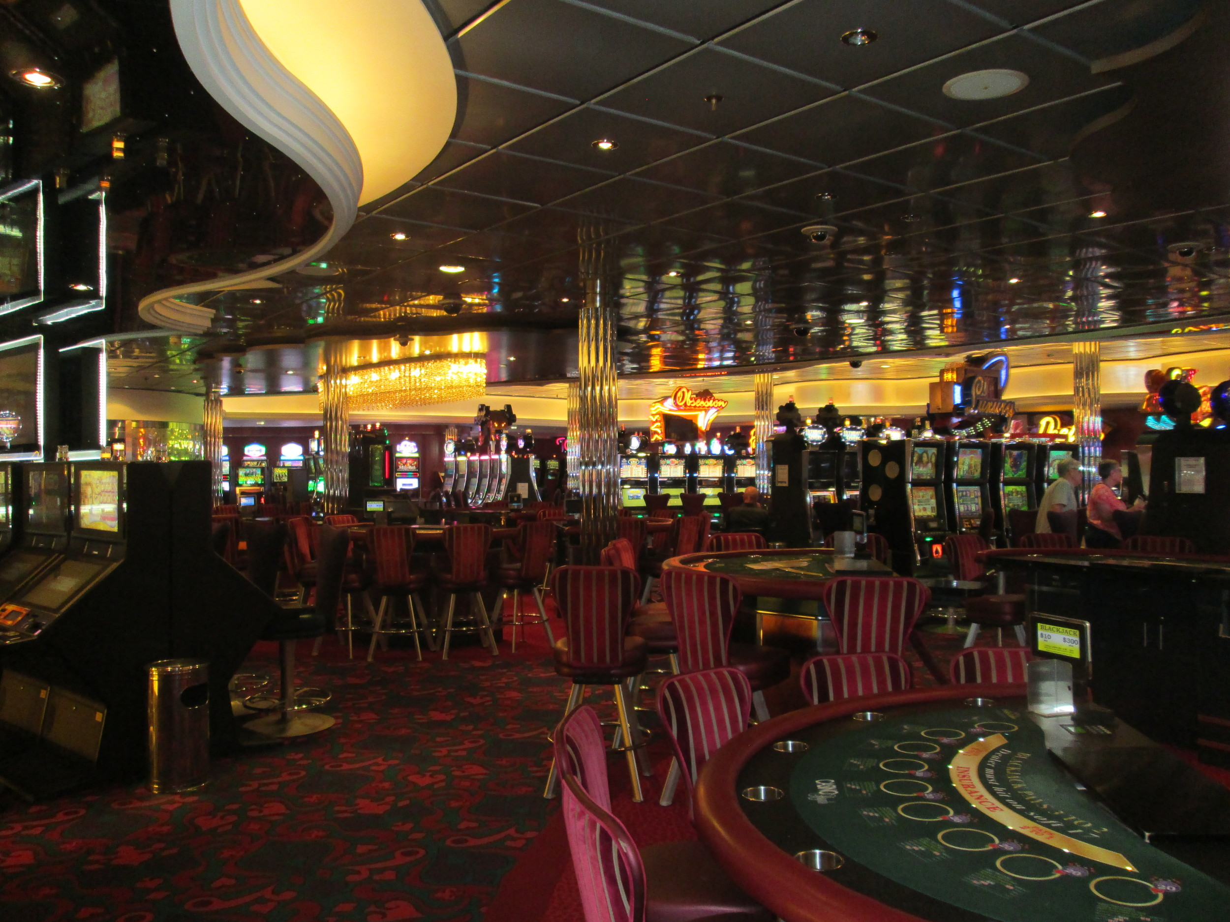 There is also a rather impressive casino on board if you are interested in hitting the slots