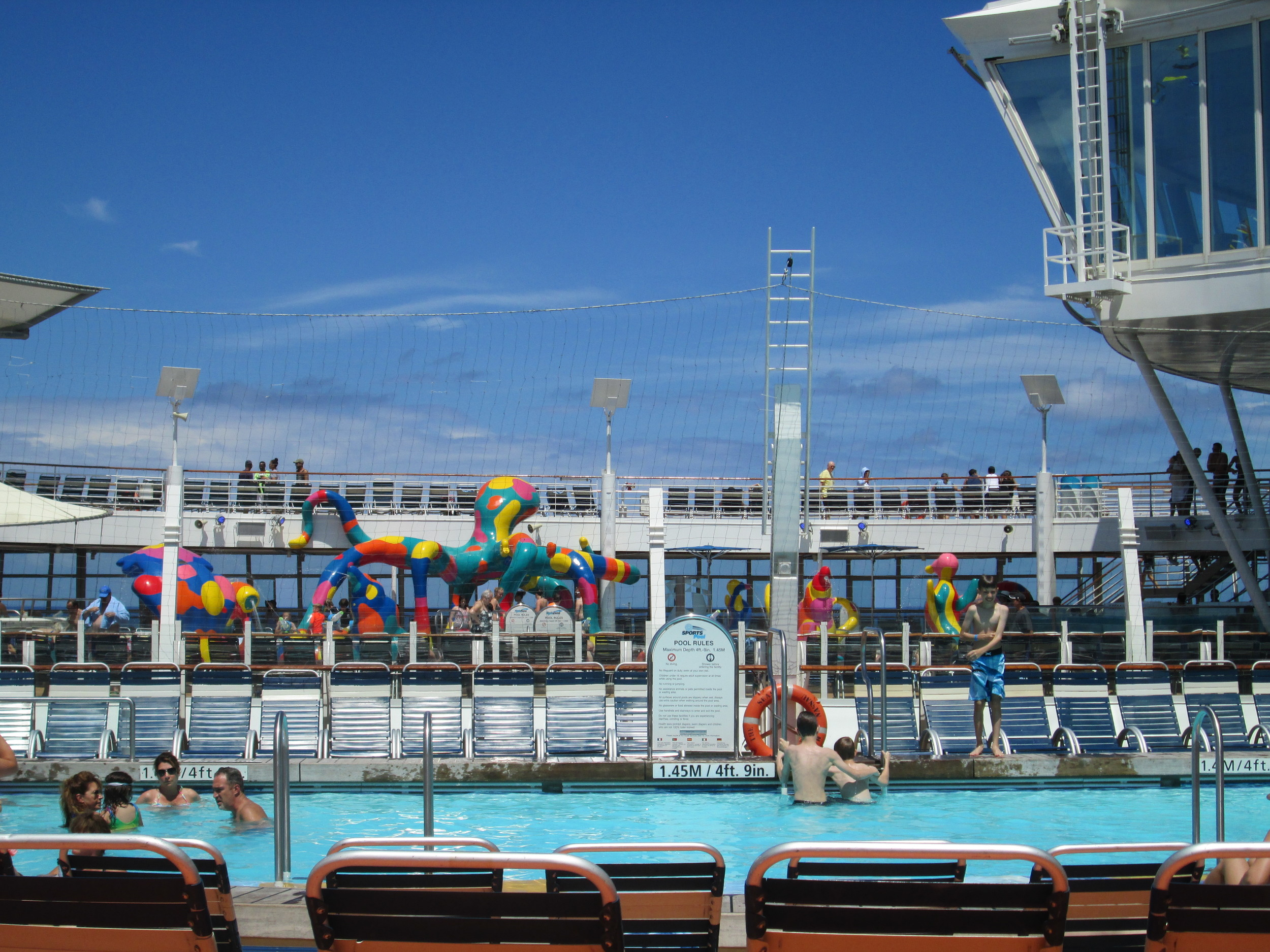 There are multiple pools on board...go exploring and find the one you like best!