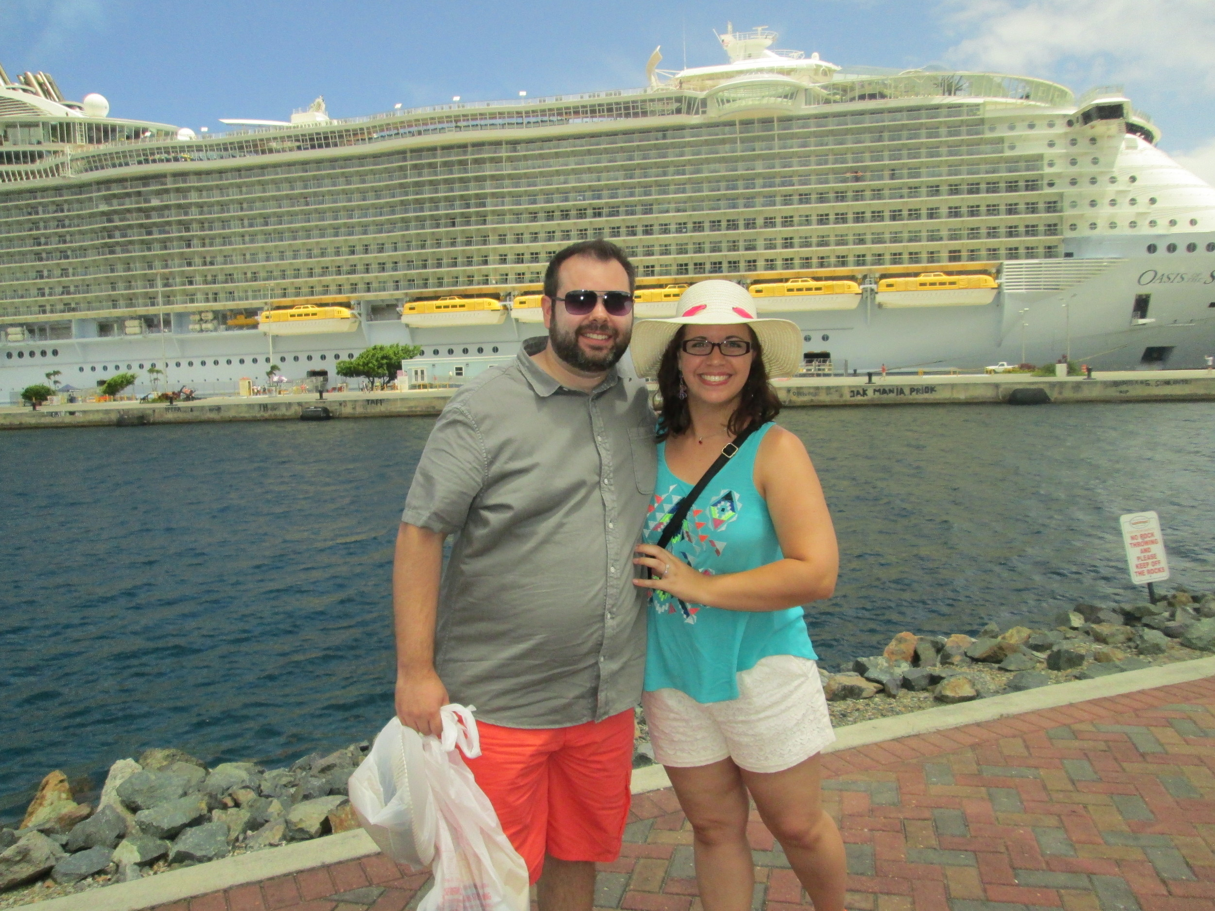 After a day in St. Thomas, we headed back to the ship early to take advantage of it's emptiness!