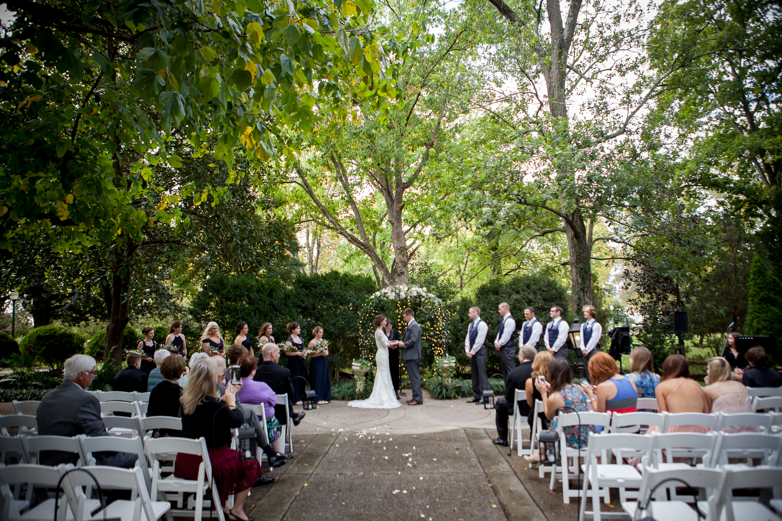 The beautiful ceremony at Riverwood Mansion - Whitney Fletcher Photography