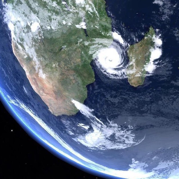 Cyclone Idai looks beautiful from space, but on Earth, it was untold disaster. The largest cyclone to ever hit Africa, rivers breaking their banks with 7m walls of water which spread out over 3,000 sq km. The number of victims won't be known for months.  I'm flying into Beira, a city of 500,000 people, on the Mozambican coast where Idai hit land to document rescue operations and humanitarian assistance for UNHCR and others.  In Maputo airport, I had my first conversation in Portuguese, a family wanting to send food to their pregnant sister in Beira if I had extra kilograms in my baggage allowance. Soon I realized that amid aid workers, the check in line was full of Mozambicans sending bags of food as the city is running out. It brought a tear to my eye, and I only hope my photographs will inspire others to help as well.  #idai #cyclone #climatechange #naturaldisaster #viewfromspace