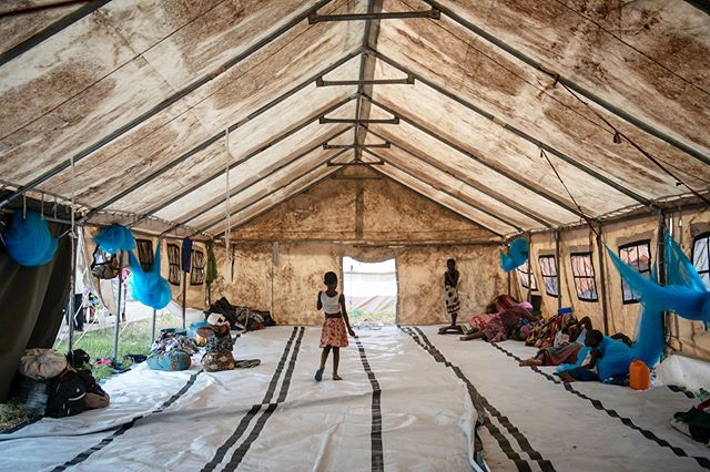 Temporary shelters such as this house tens of thousands who lost their homes and all of their belongings in Cyclone Idai in Beira, Mozambique. #mozambique #nikon #climatechange #cycloneidai #tent #climaterefugees