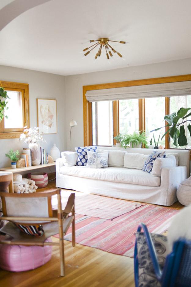 Michelle LeBlanc's home on Design*Sponge  via  Sycamore Street Press