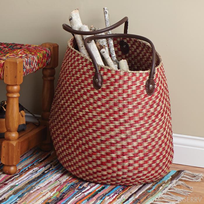 Cherry Checkered Basket from SERV - $68