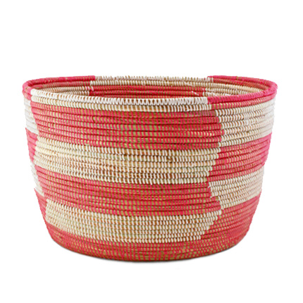 Pink Herringbone Basket from The Connected Good - $55