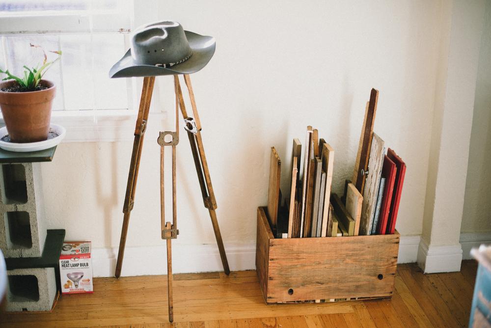 Wood storage and tripod | The Honest Home | Jared Tharp