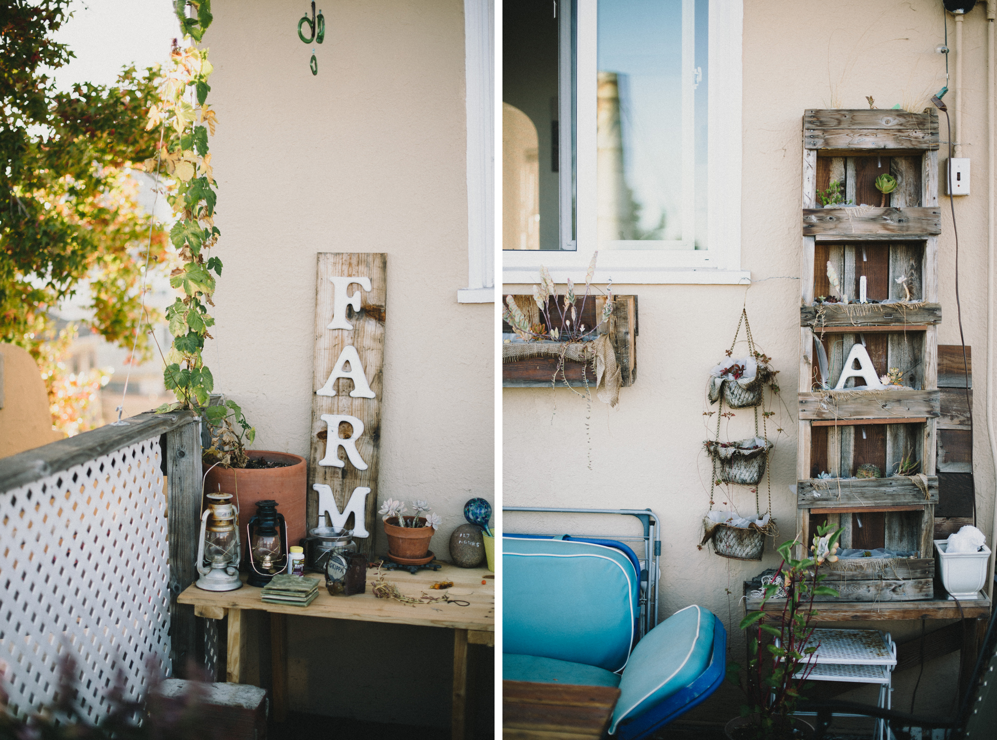 Farm sign rooftop garden  | The Honest Home | Jared Tharp | Loveridge Photography