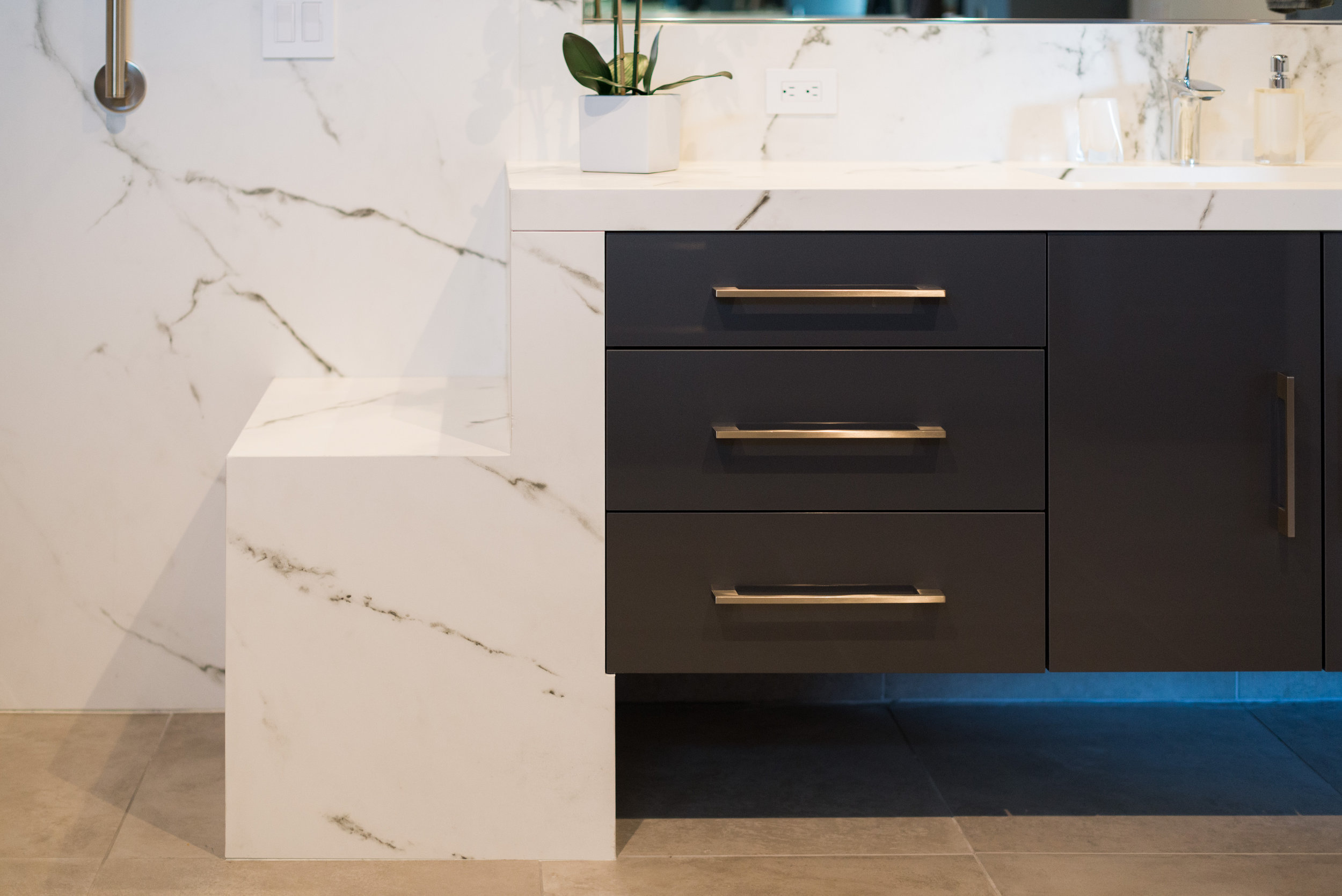 Bathroom Bench Seat - Cody Design Studio